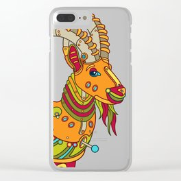 Ibex, cool wall art for kids and adults alike Clear iPhone Case