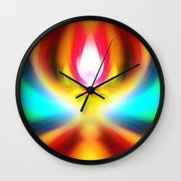 When the sands of time find you dawdling...falling into colour is easy Wall Clock