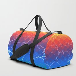 Grunge rainbow rombs Duffle Bag