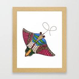 Colorful Stingray Framed Art Print