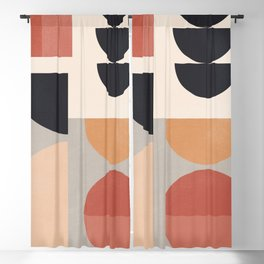 Abstract Geometric Shapes 67 Blackout Curtain