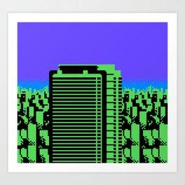 NES CITYSCAPE 06c Art Print