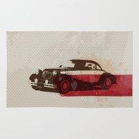car Area & Throw Rugs featuring car by Lyndi888