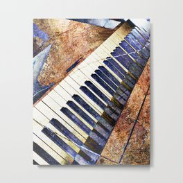 Piano keys art Metal Print