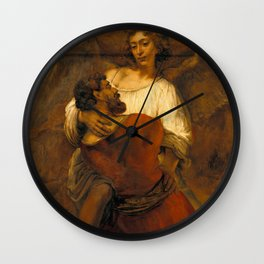 Jacob Wrestling with the Angel Wall Clock