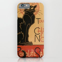 Le Chat Noir The Black Cat Poster by Théophile Steinlen iPhone Case