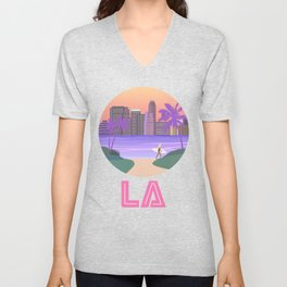 Los Angeles City Art Unisex V-Neck