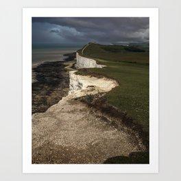 White cliffs of Beachy Head Art Print