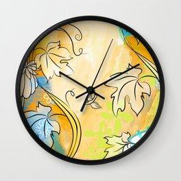 Soft Ochre October Wall Clock
