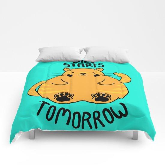 Diet Starts Tomorrow! Comforters