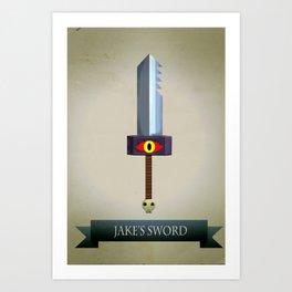 Jake's Sword Art Print