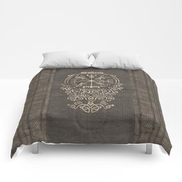 Vegvisir and Tree of life  - Yggdrasil Comforters