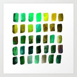 Brushstrokes 1zb by Kathy Morton Stanion Art Print