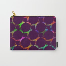 Rainbow mermaid bubble circle brush print Carry-All Pouch