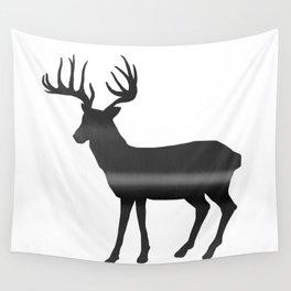 Deer print, Black & White Wall Tapestry
