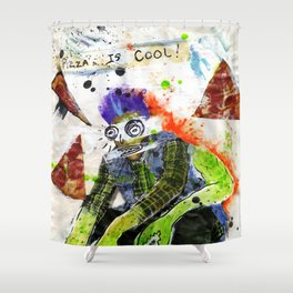 Pizza is Cool Shower Curtain