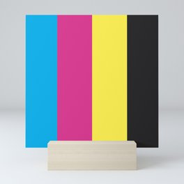 CMYK Bars Mini Art Print