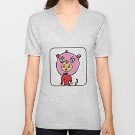 Angry Teddy Bear Baby Unisex V-Neck
