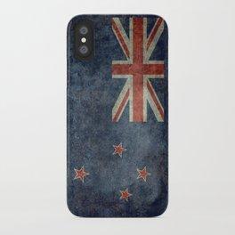 New Zealand Flag - Grungy retro style iPhone Case