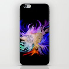 Woman and Horse - Fantasy Rainbow Art iPhone & iPod Skin