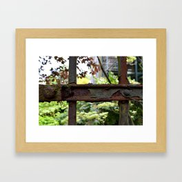 Rusty fence in Amsterdam Framed Art Print