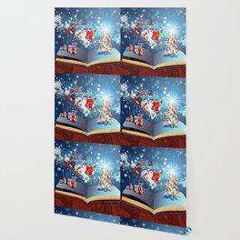 Christmas Magic Book with Santa Wallpaper