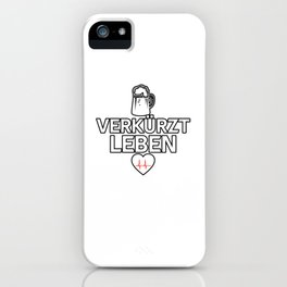 Beer Drinking Heart Life Alcohol iPhone Case