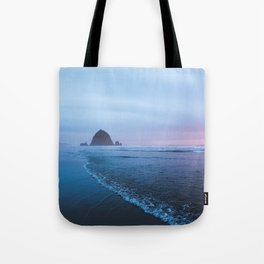 Haystack Rock Sunset Tote Bag