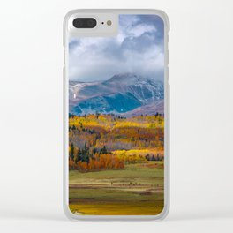 Fall in the Rockies Clear iPhone Case