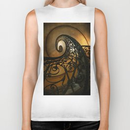 Spiral staircase with ornamented handrail Biker Tank