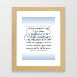 Avow, a Poem Framed Art Print