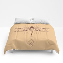 Geometric Dragonfly Comforters