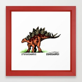 Dinosaur - Stegosaurus Framed Art Print