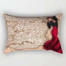 bailarína de flamenco Rectangular Pillow