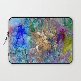 Galaxy, abstract, gold accent Laptop Sleeve