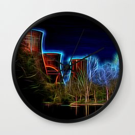 Digital Art Ironbridge Power Station Wall Clock