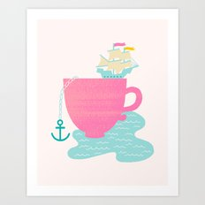 Cup of Sea Art Print