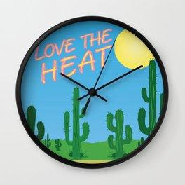 Love the Heat 1 Wall Clock