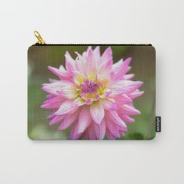 Pink Dahlia Flower Carry-All Pouch