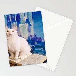 The tale of Tyche the white kitty Stationery Cards