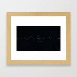 Time Map Framed Art Print