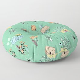 Spring time dreamy pastel palette Floor Pillow