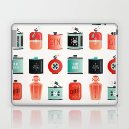 Flask Collection – Red & Turquoise Palette Laptop & iPad Skin