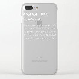 Mens Dad Definition Father's Day Funny Mens Hilarious Adult Humor T-Shirt Clear iPhone Case
