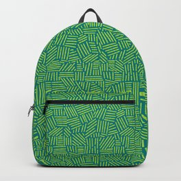 Hatching a Pattern - Green on Teal Backpack