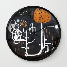 Copper rain Wall Clock