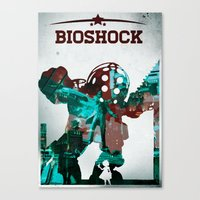 bioshock Canvas Prints featuring BioShock by Sheloner.