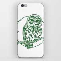coasters iPhone & iPod Skins featuring Forest Lover's Owl by KimberlyVautrin