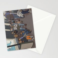 SUBWAY CROWD Stationery Cards