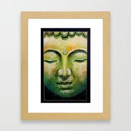 Lord Gautama Buddha Face Framed Art Print